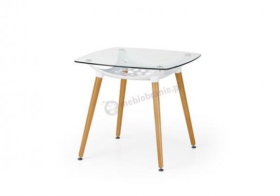 Szklany stolik do kuchni 80cm Tonic Halmar