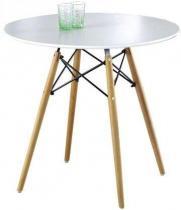 Okrągły stolik na drewnianych nogach Prometheus 80cm