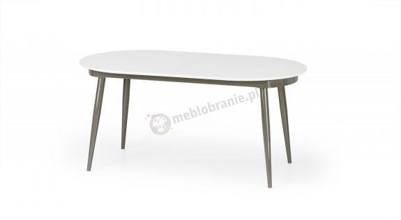 Biało szary rozkładany stół do jadalni Crispin 160-200cm