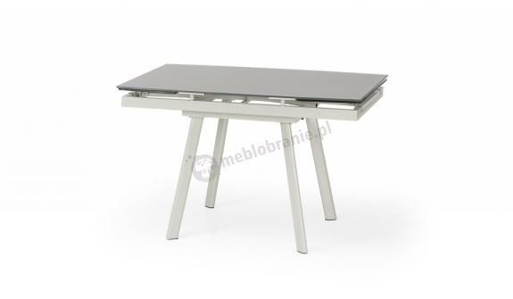 Szklany rozkładany stół do jadalni Turion Halmar 120-180cm