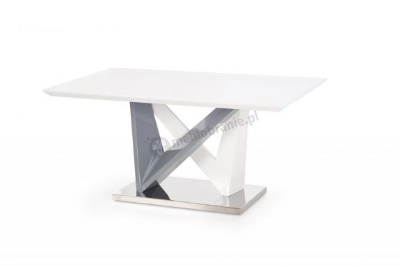 Nowoczesny stół biały połysk 160cm Cortez Halmar