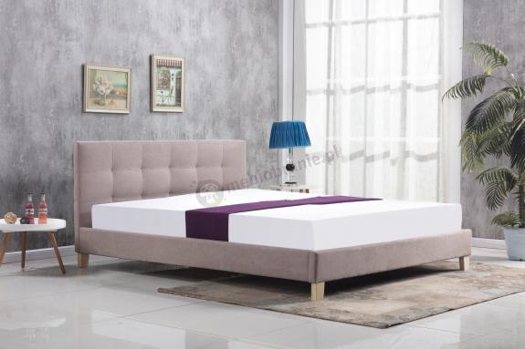 Tapicerowane łóżko Do Sypialni Oxford 160cm Beż