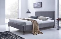 Łóżko tapicerowane szare Flexy Halmar