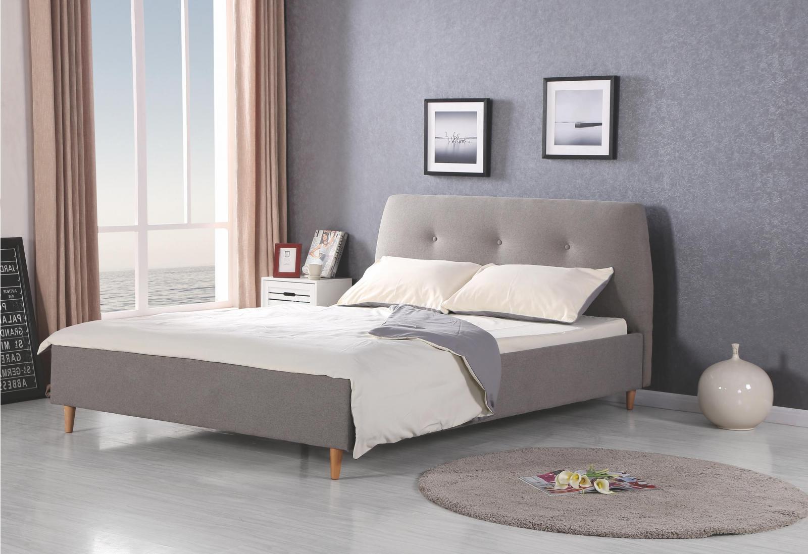 Tapicerowane łóżko z zagłówkiem Doris