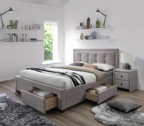 Łóżko tapicerowane z szufladami Evora Halmar