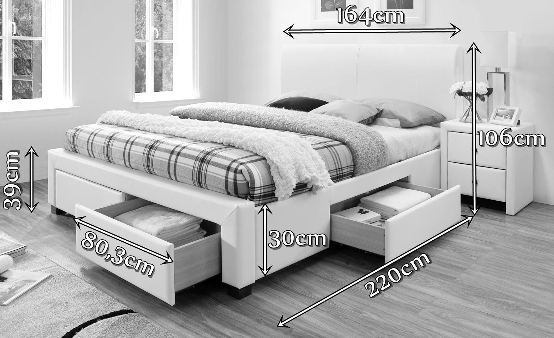 Łóżko Modena Halmar wymiary