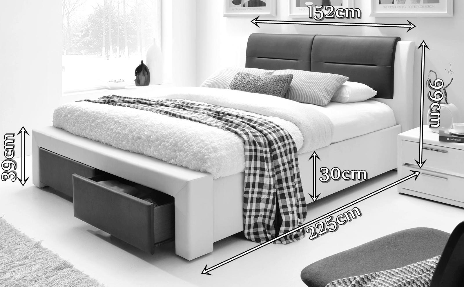 Łóżko Cassandra S Halmar wymiary