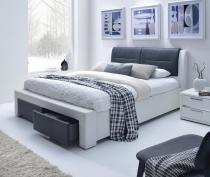 Łóżko z tapicerowanym zagłówkiem Cassandra 160cm