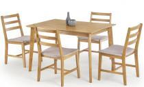 Drewniany stół + 4 krzesła zestaw Cordoba Halmar