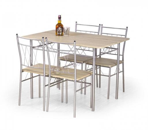 Zestaw Do Kuchni Stół Krzesła Dąb Sonoma Faust Halmar