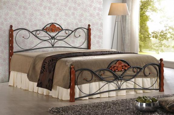 Ozdobne łóżko z zagłówkiem Valentina 160cm Halmar