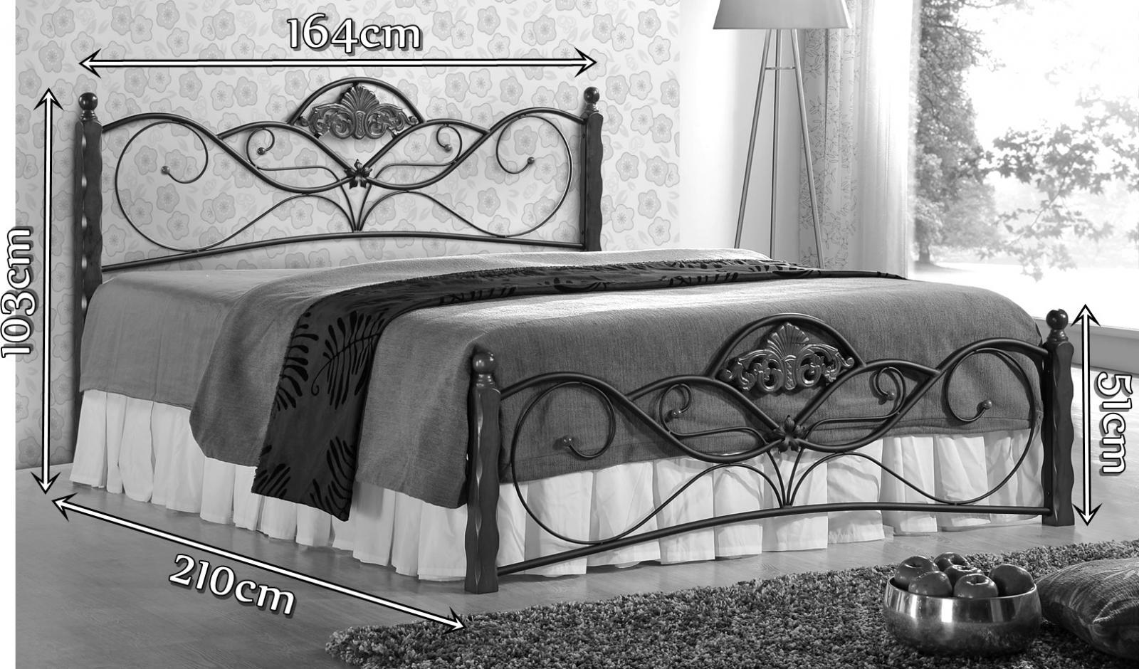 Łóżko Valentina 160cm wymiary
