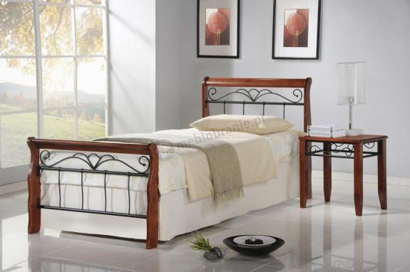 Łóżko do sypialni z zagłówkiem Veronica 90cm Halmar