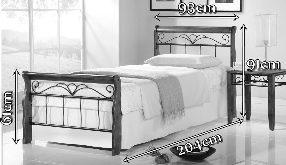 Łóżko Veronica 90cm wymiary