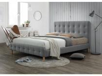 Łóżko tapicerowane szare 160x200 Alice Signal