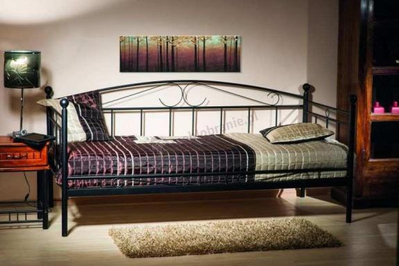 łóżko Metalowe Jednoosobowe Ankara Czarne