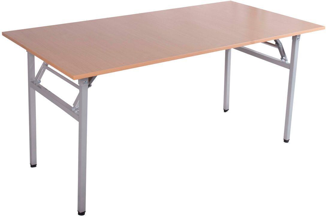 Nowość Stół bankietowy składany 180x90cm wzmocniony biały blat - szary ZI32