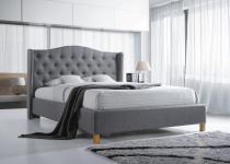 Łóżko z tapicerowanym zagłówkiem 140x200 Aspen Signal