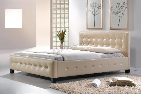 Kremowe łóżko Do Sypialni 160x200 Barcelona Signal Meblobraniepl