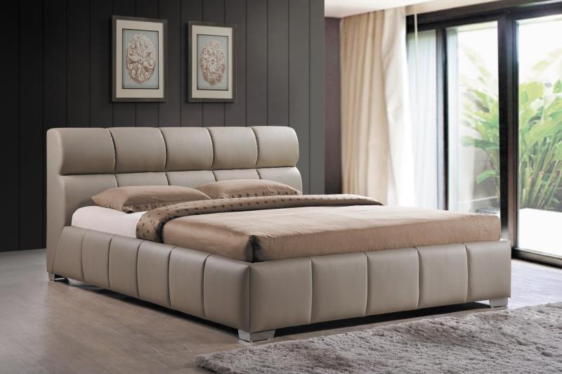 Tapicerowane łóżko z zagłówkiem Bolonia