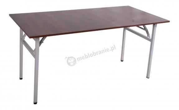 Stół konferencyjny modułowy 160x80 orzech - stelaż szary
