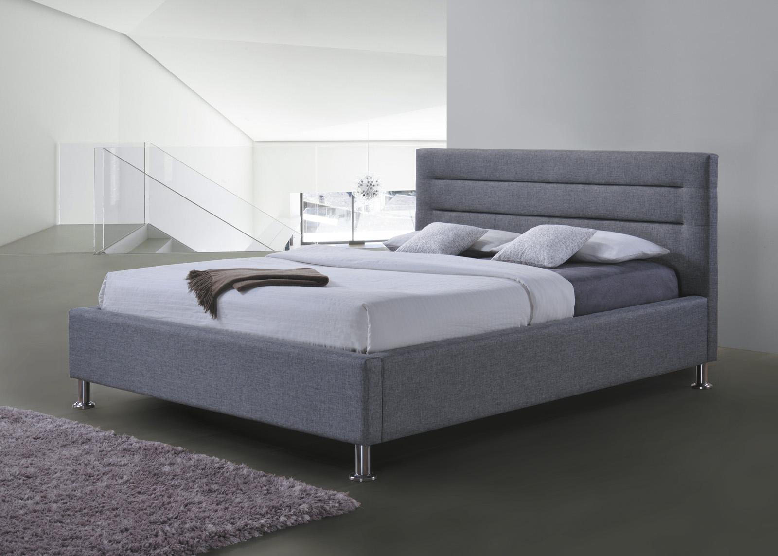 Tapicerowane łóżko z zagłówkiem Liden
