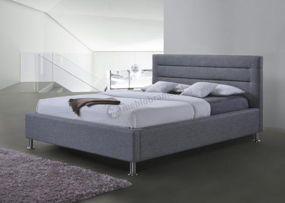 Nowoczesne łóżko tapicerowane szare Liden Signal