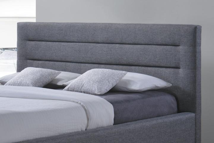 Nowoczesne łóżko z zagłówkiem