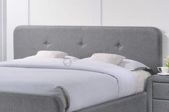łóżko Tapicerowane Szare 180x200 Malmo Signal Meblobraniepl