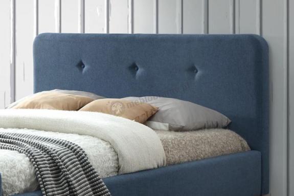 łóżko 160x200 Tapicerowane Denim Malmo Signal Meblobraniepl