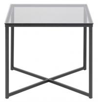 Actona Cross II kwadratowy stolik kawowy szklany