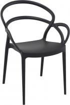 Siesta Mila Black krzesło bankietowe