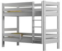 Łóżko piętrowe GAGATEK 180x80 białe