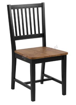Actona Brisbane Czarne Drewniane Krzesło Do Kuchni