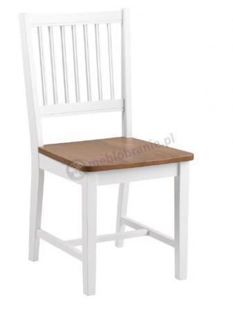 Actona Brisbane Białe Drewniane Krzesło Do Kuchni