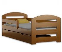 Łóżko dziecięce z szufladą KAMI PLUS 180x80 olcha + materac