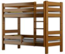 Łóżko piętrowe GAGATEK 180x80 olcha