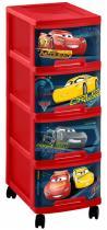 Curver Disney Cars Regał na zabawki 4x10L Auta