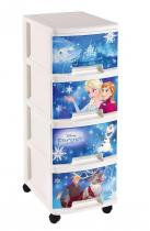 Curver Disney Frozen Regał na zabawki 4x10L Komoda