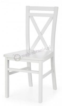 Stylowe białe krzesło do jadalni Dariusz 2 Halmar