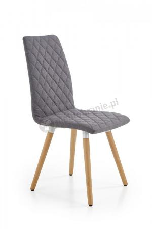 Pikowane Szare Krzesło Do Jadalni K282 Halmar