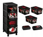 Curver Disney Star Wars - Zestaw 5 w 1 - Regał, 3 pudełka, 2 pojemniki