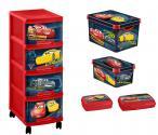 Curver Disney Cars - Zestaw 5 w 1 - Regał, 2 pudełka, 2 pojemniki