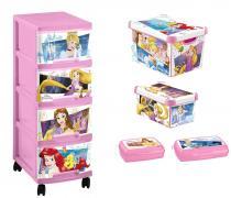 Curver Disney Princess - Zestaw 5 w 1 - Regał, 2 pudełka, 2 pojemniki
