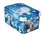 Zestaw regał na zabawki dla dzieci + komplet pojemników Frozen Curver