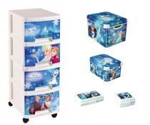 Curver Disney Frozen - Zestaw 5 w 1 - Regał, 2 pudełka, 2 pojemniki