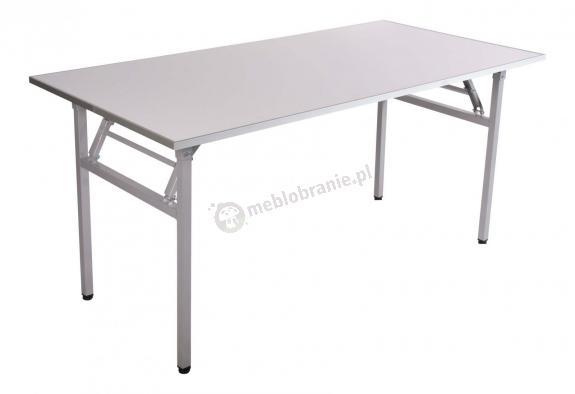 Zupełnie nowe Stół bankietowy składany 180x90cm wzmocniony biały blat - szary BF05