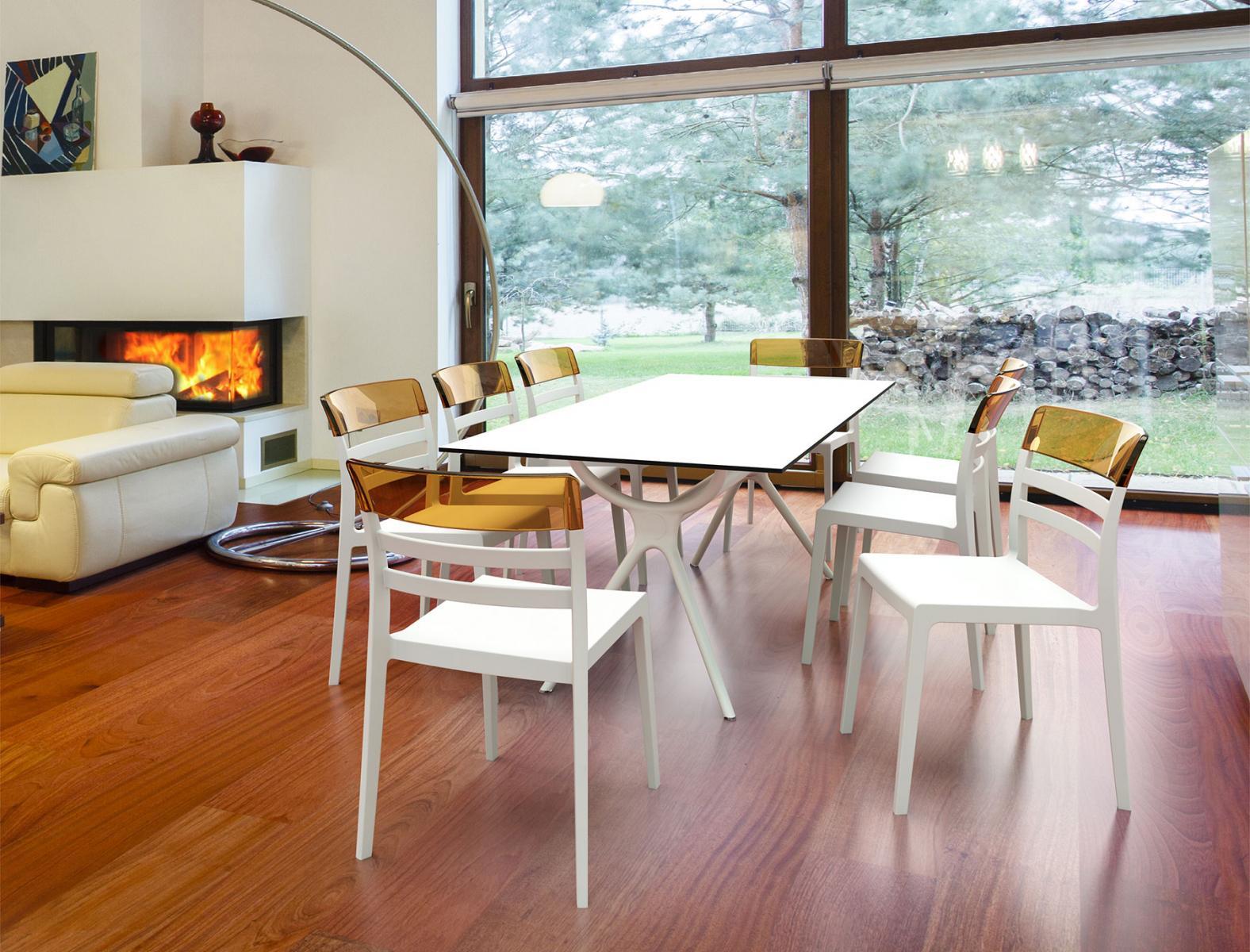 Aranżacja Stół nowoczesny z tworzywa Air Table 180 White