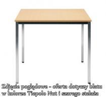 Stół konferencyjny SIMPLE 80x80 Tiepolo Nut ALU