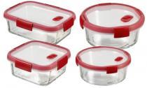 Zestaw prezentowy 4 w 1 Curver SMART COOK GLASS - 4 pojemniki